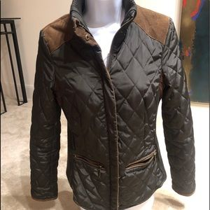 Zara Basic quilted jacket with corduroy accent